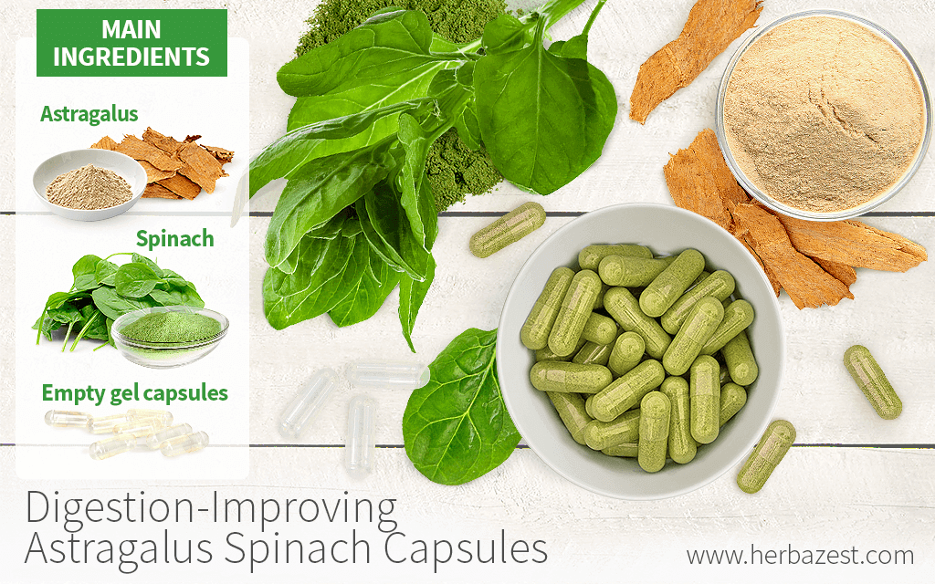 Digestion-Improving Astragalus Spinach Capsules
