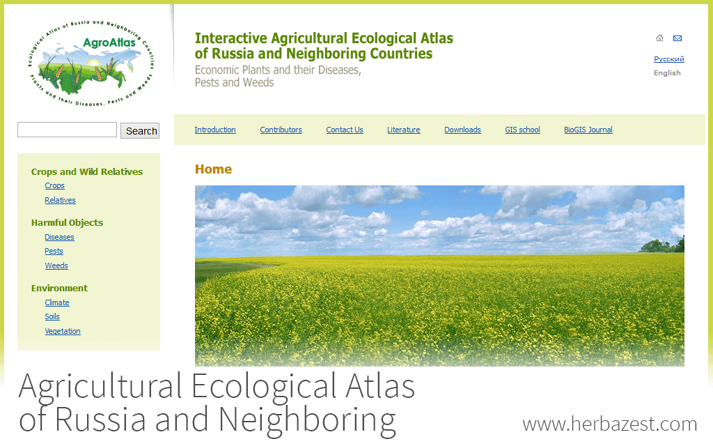 Agricultural Ecological Atlas of Russia and Neighboring Countries