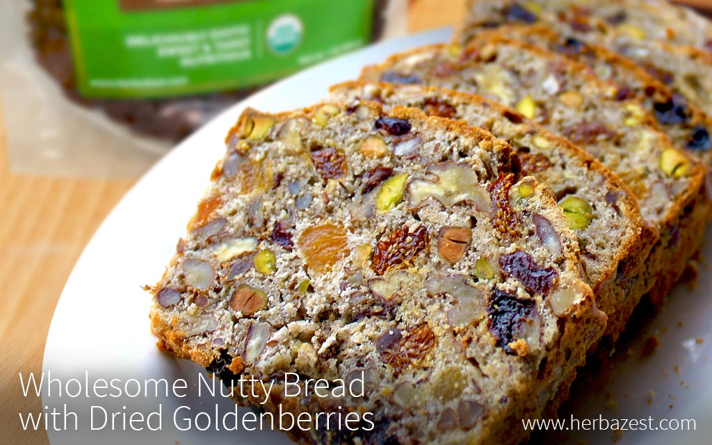 Wholesome Nutty Bread with Dried Goldenberries