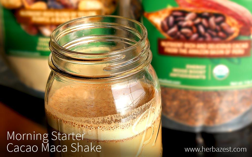 Morning Starter Cacao Maca Shake