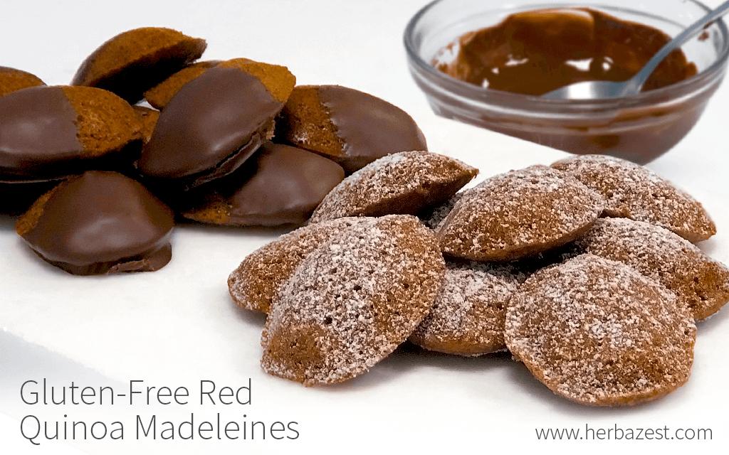 Gluten-free red quinoa madeleines