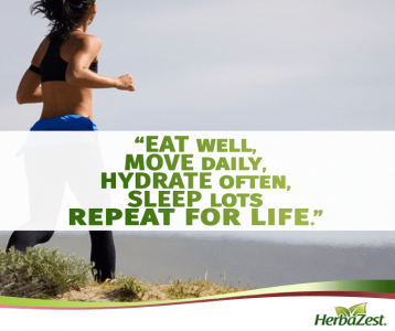 Quote: Eat Well, Move More, Repeat for Life