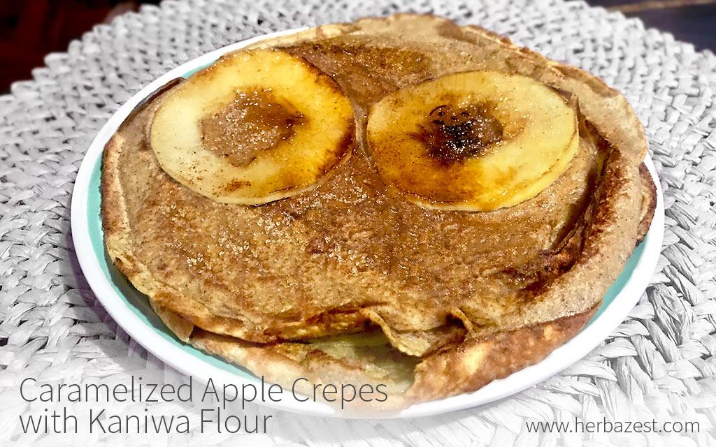 Carmelized Apple Crepes with Kaniwa Flour