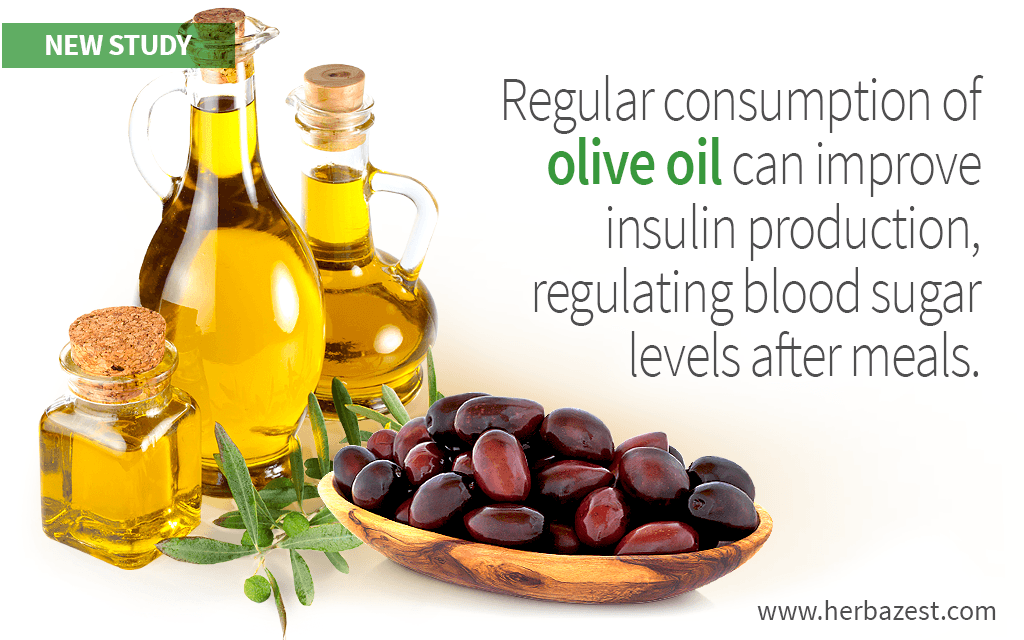 Regular consumption of olive oil can improve insulin production, regulating blood sugar levels after meals.