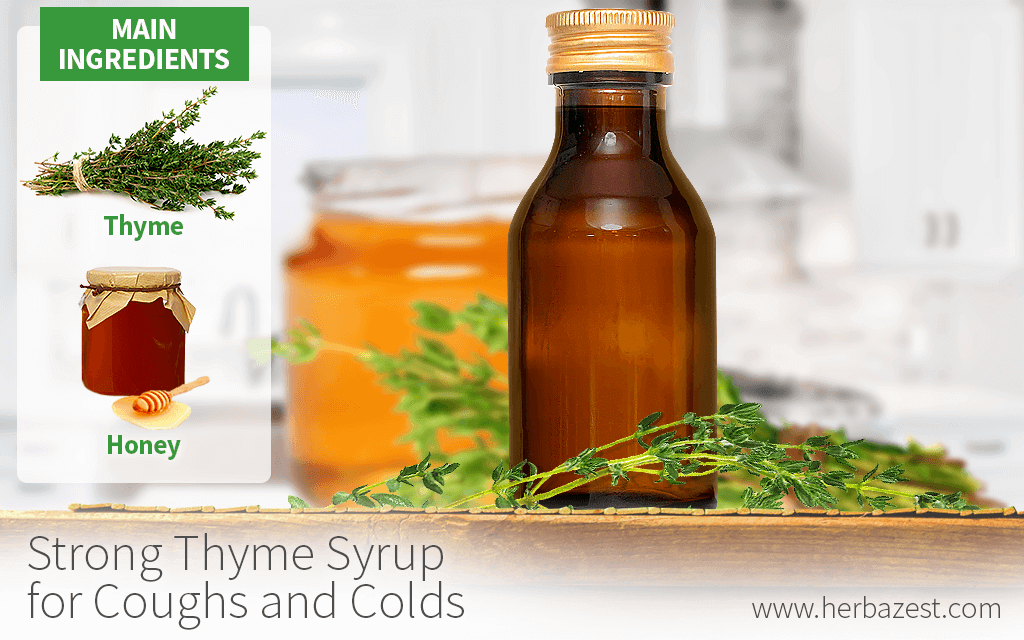 Strong Thyme Syrup for Coughs and Colds