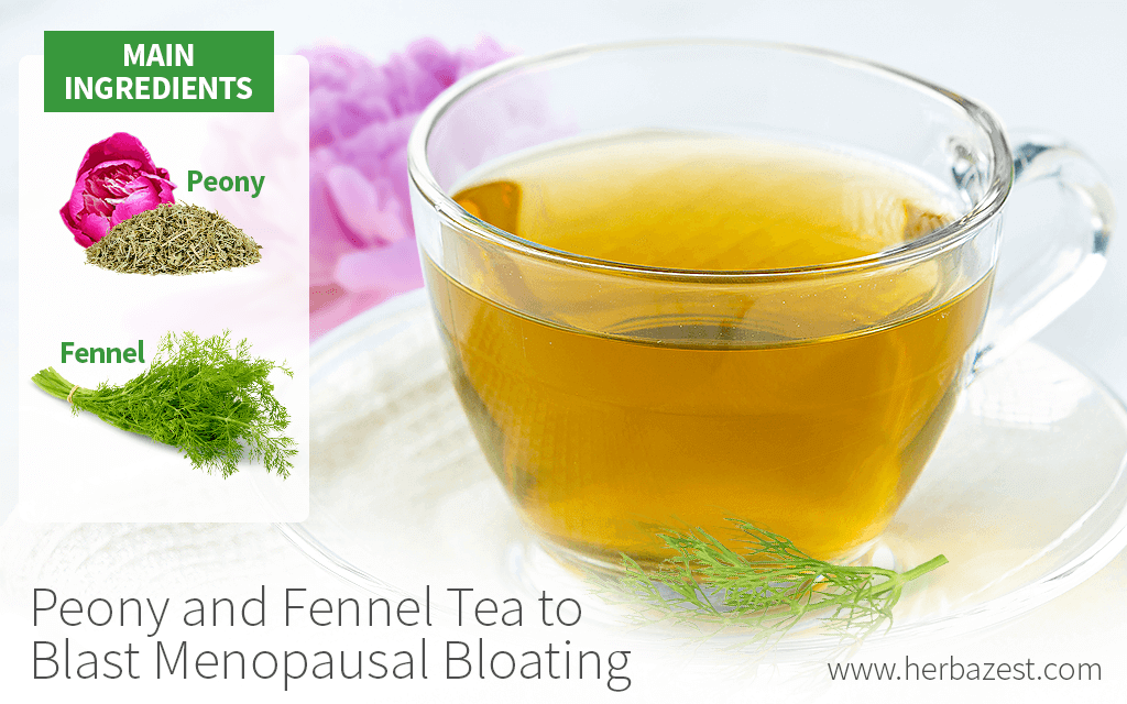Peony and Fennel Tea to Blast Menopausal Bloating