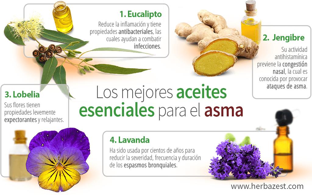 Los 4 mejores aceites esenciales para el asma