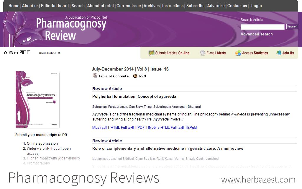 Pharmacognosy Reviews