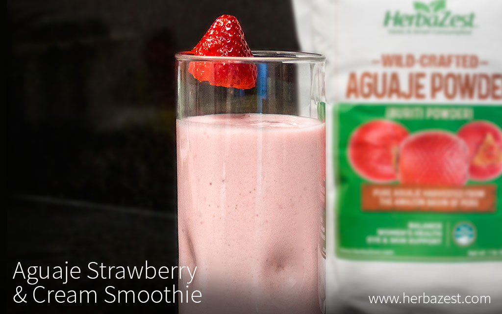 Aguaje Strawberry & Cream Smoothie