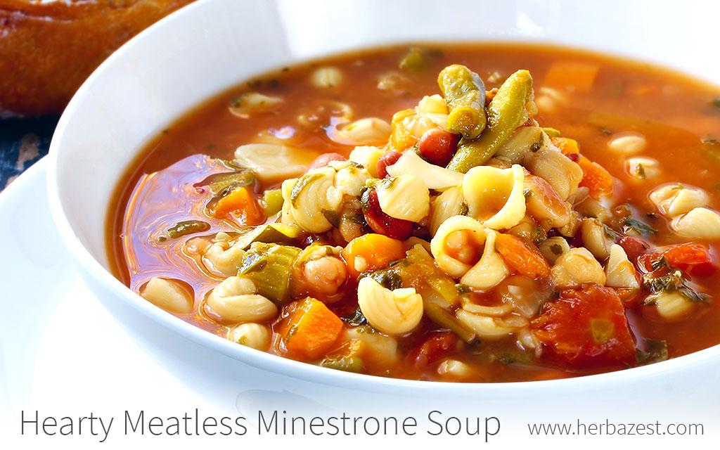 Hearty Meatless Minestrone Soup