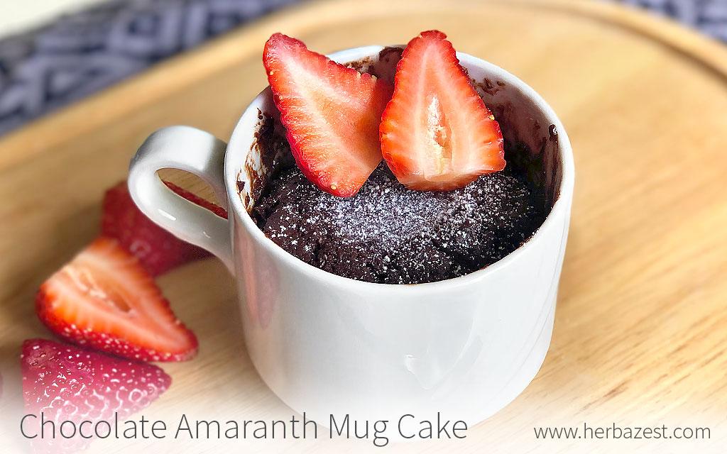 Chocolate Amaranth Mug Cake