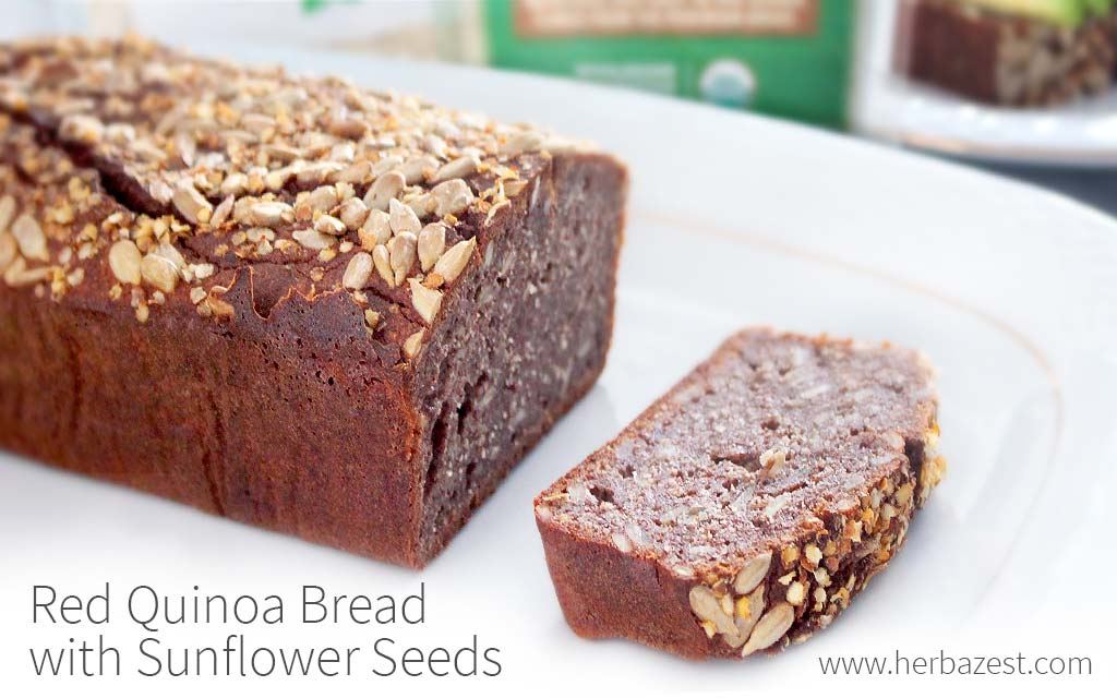 Red Quinoa Bread with Sunflower Seeds