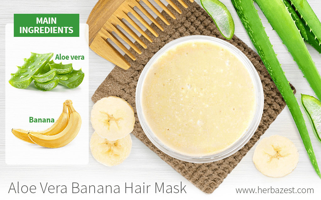 Aloe Vera Banana Hair Mask