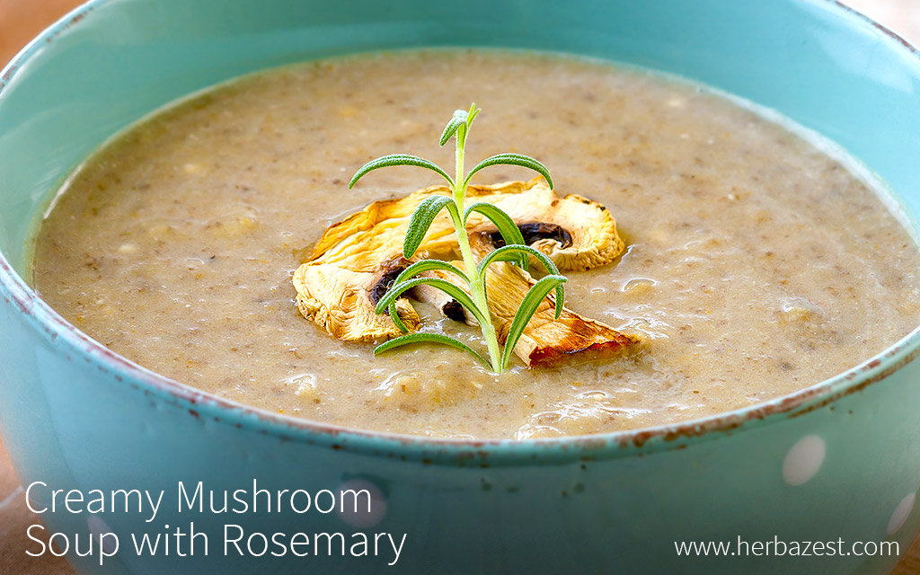 Creamy Mushroom Soup with Rosemary