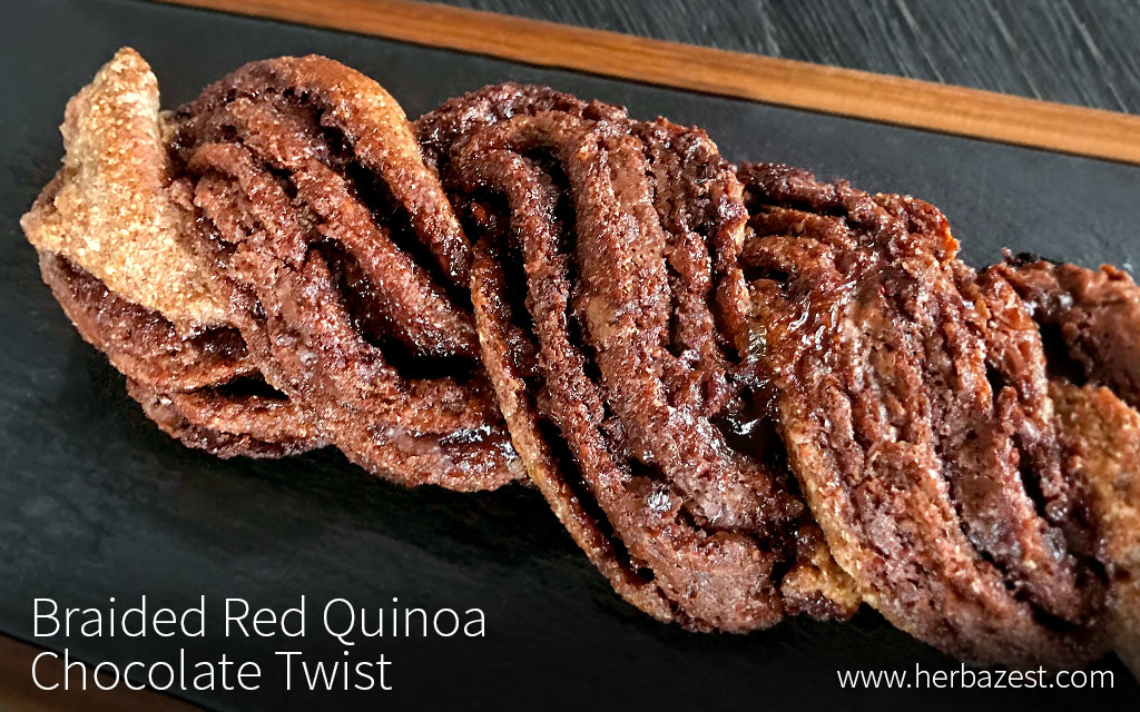 Braided Red Quinoa Chocolate Twist