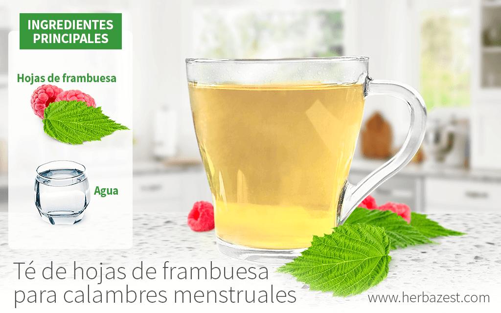 Té de hojas de frambuesa para calambres menstruales