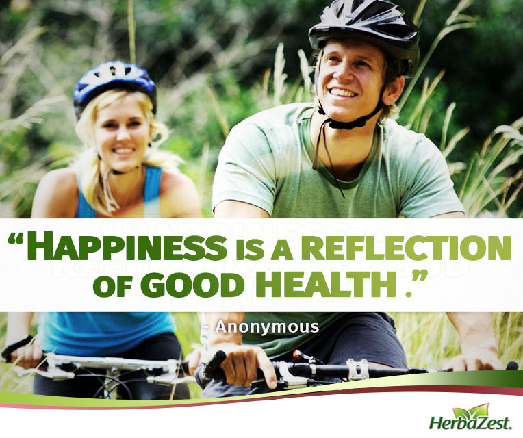 Quote: Happiness is a Reflection of Good Health