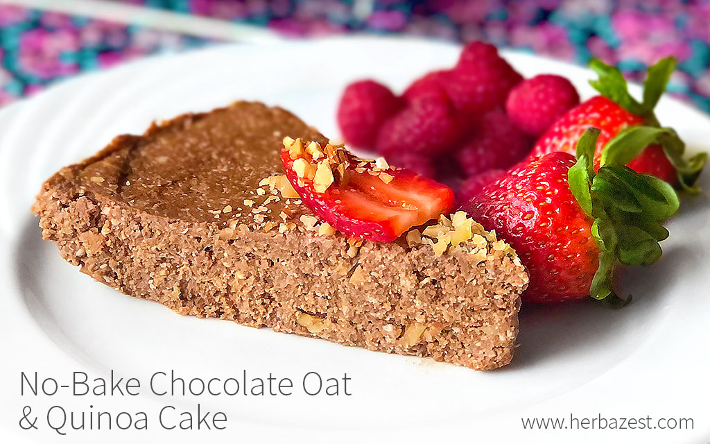No-Bake Chocolate Oat & Quinoa Cake
