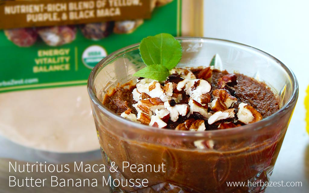 Nutritious Maca & Peanut Butter Banana Mousse