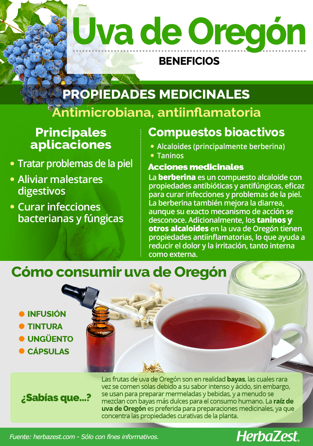Beneficios de la uva de Oregón