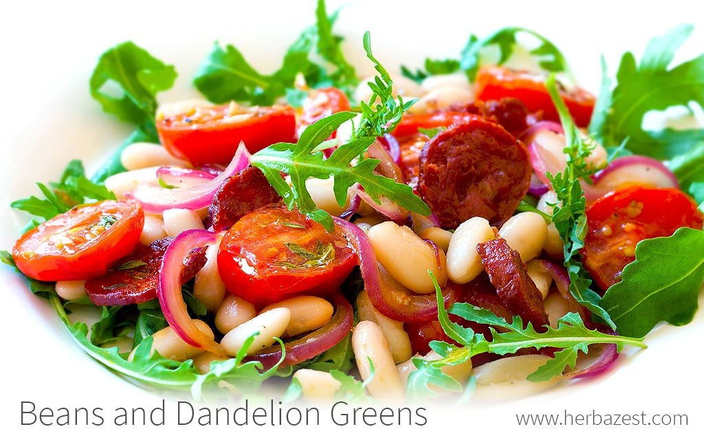 Beans and Dandelion Greens