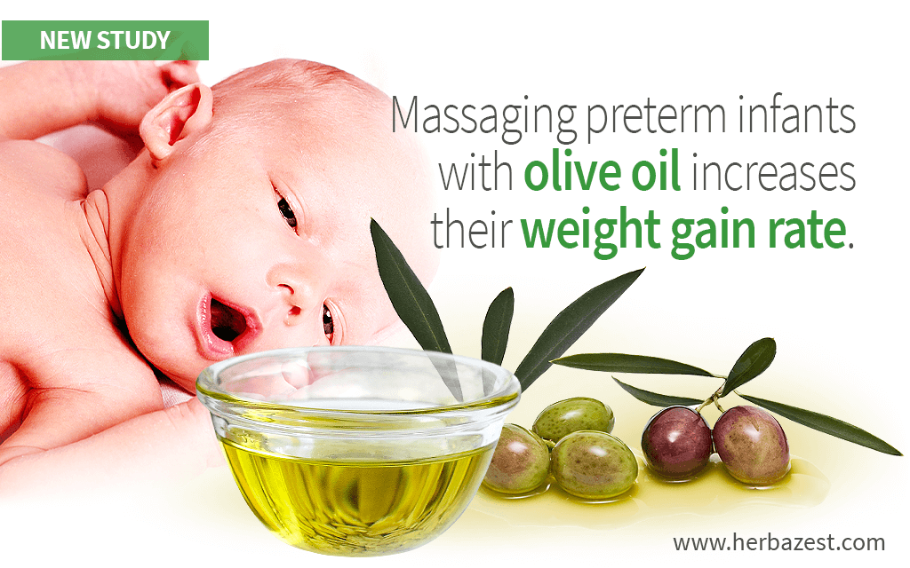 Olive Oil Massage Increases Premature Infants' Weight Gain Rate
