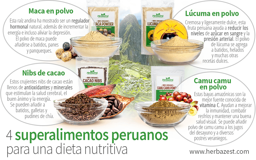 4 superalimentos peruanos para una dieta nutritiva