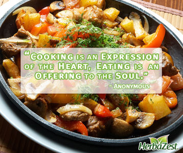 Quote: Cooking is an Expression of the Heart, Eating is an Offering to the Soul