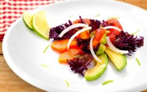 Avocado and Papaya Salad