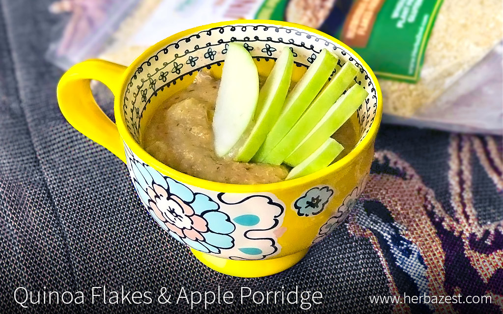 Quinoa Flake Apple Porridge