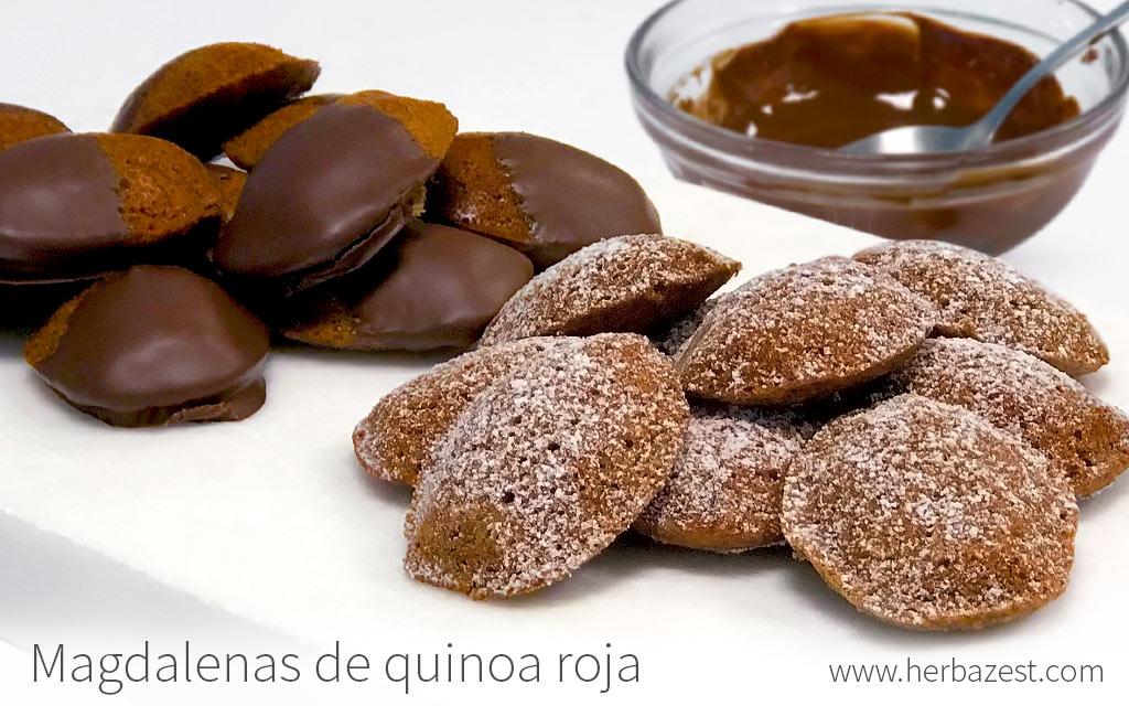 Magdalenas de quinoa roja