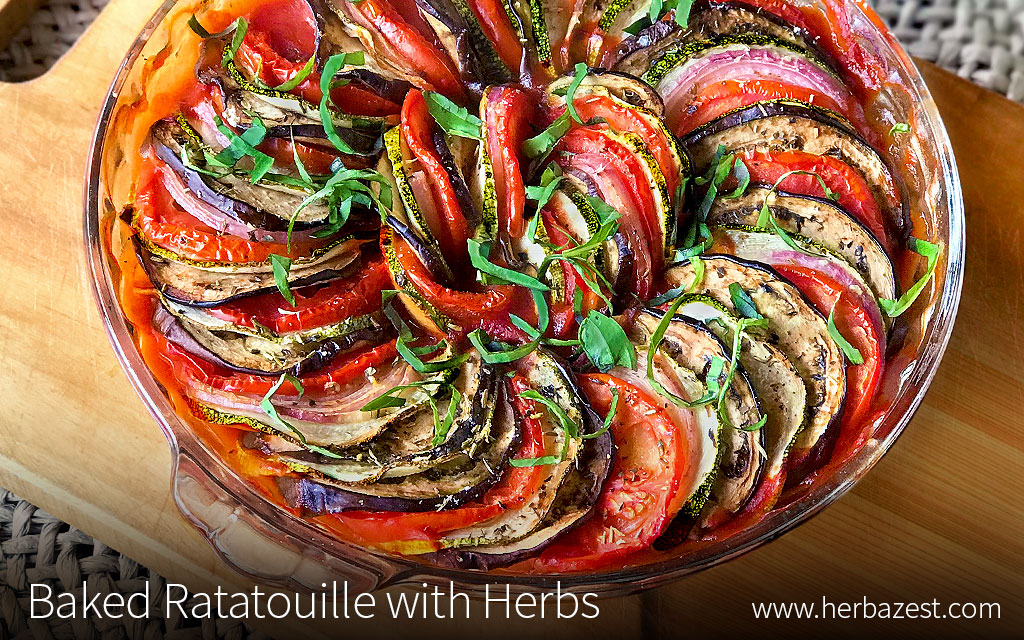 Baked Ratatouille with Herbs