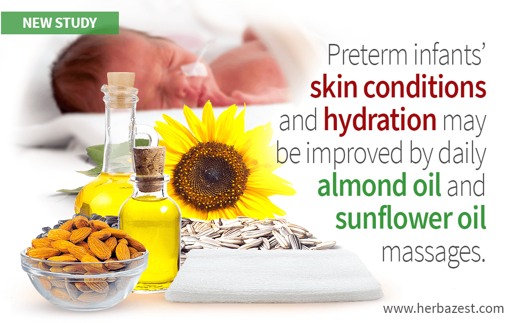 Almond and Sunflower Oils Can Treat Skin Conditions in Preterm Babies