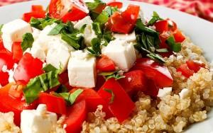 High Protein Quinoa Caprese