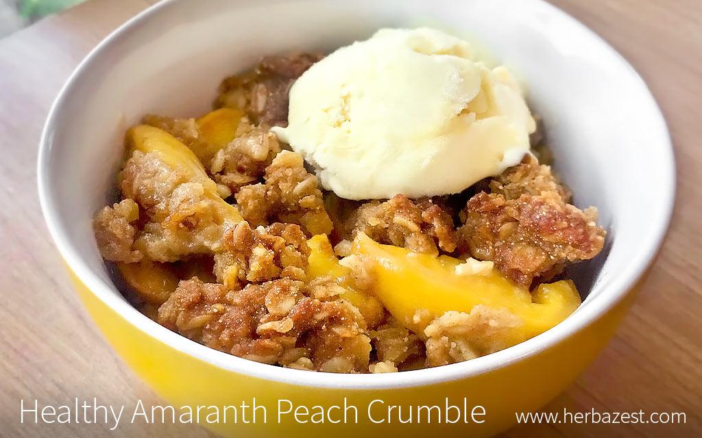 Healthy Amaranth Peach Crumble