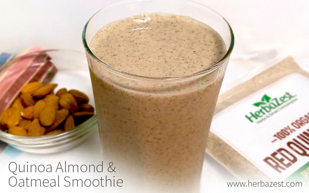 Quinoa Almond & Oatmeal Smoothie