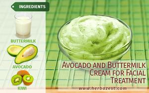 Avocado and Buttermilk Cream for Facial Treatment
