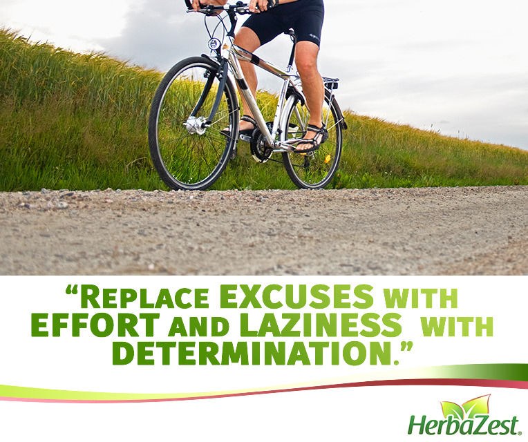 Quote: Replace Excuses with Effort and Laziness with Determination