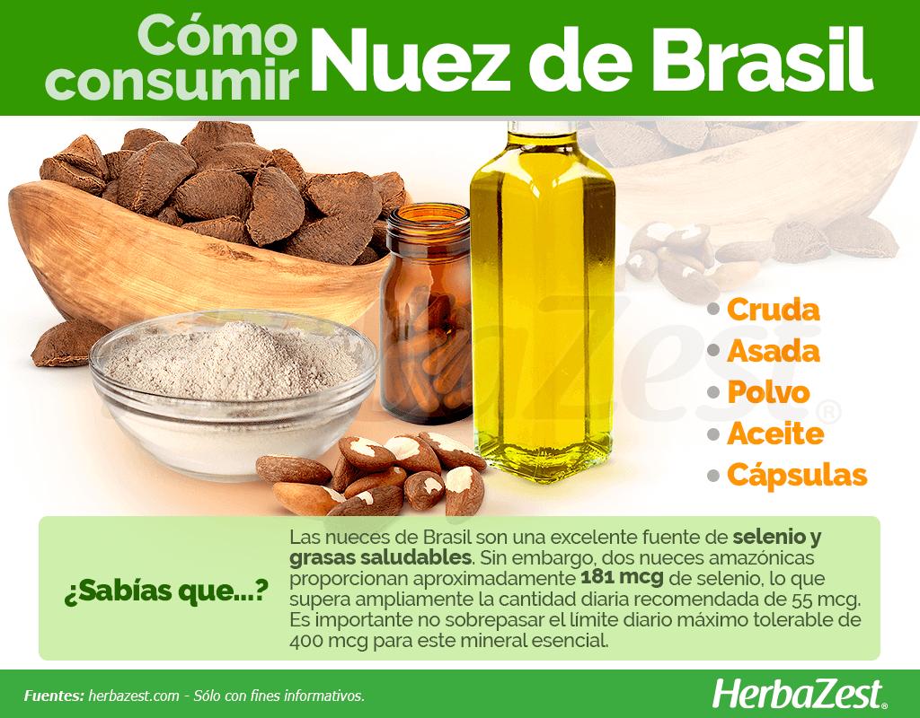 Cómo consumir nuez de Brasil