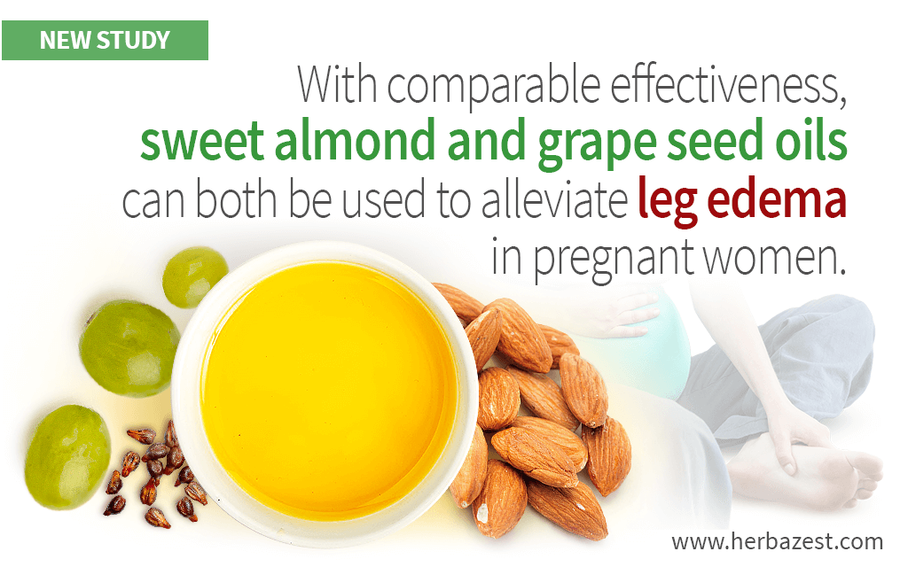 Sweet Almond and Grape Seed Oil Massage Reduce Edema during Pregnancy