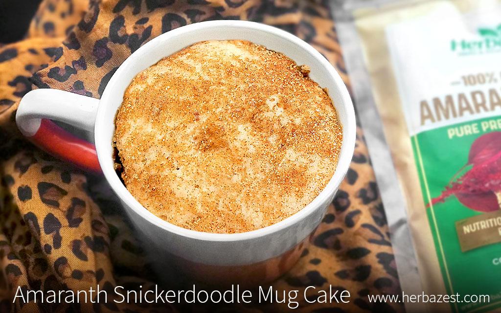 Amaranth Snickerdoodle Mug Cake