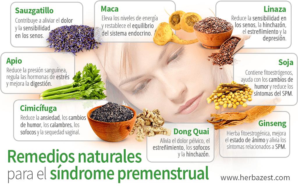Remedios naturales para el síndrome premenstrual