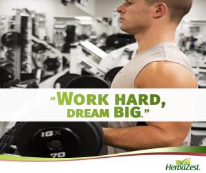 Quote: Work Hard, Dream Big