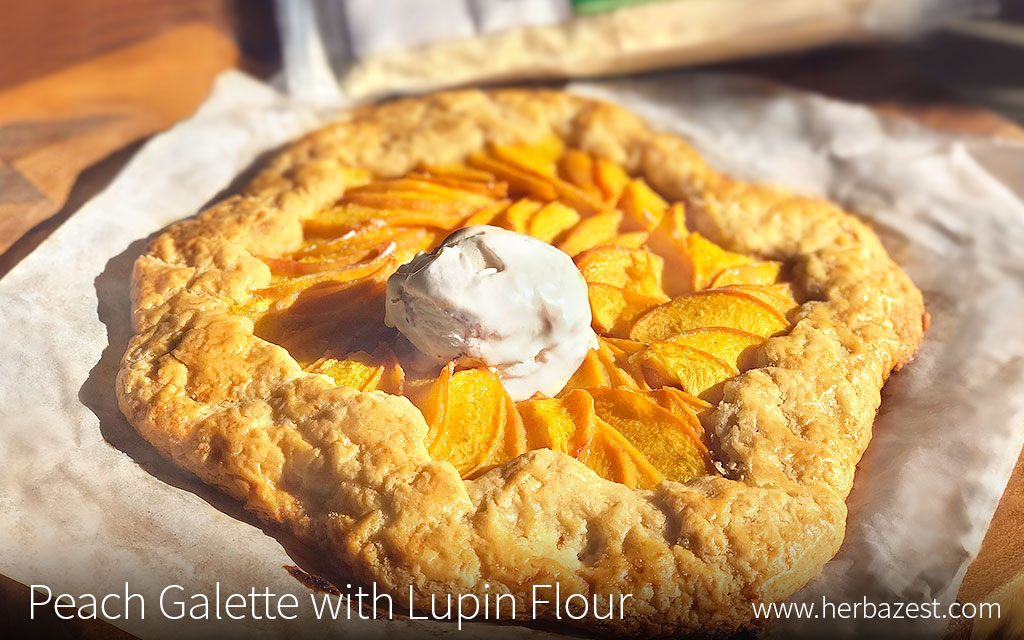 Peach Galette with Lupin Flour