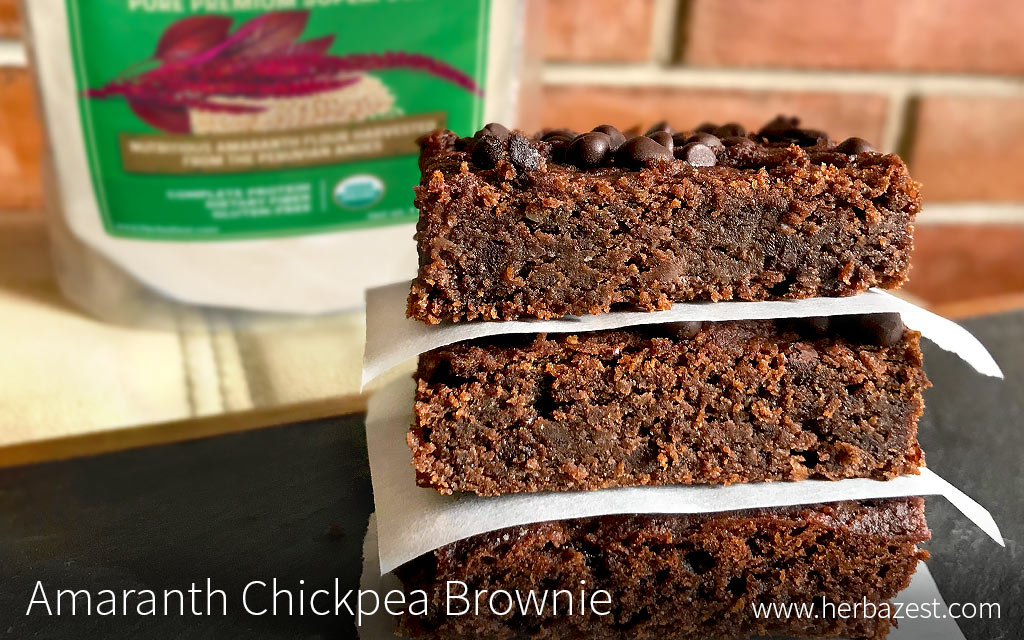Amaranth Chickpea Brownie