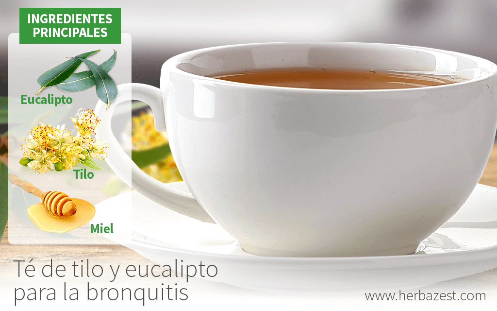 Té de tilo y eucalipto para la bronquitis