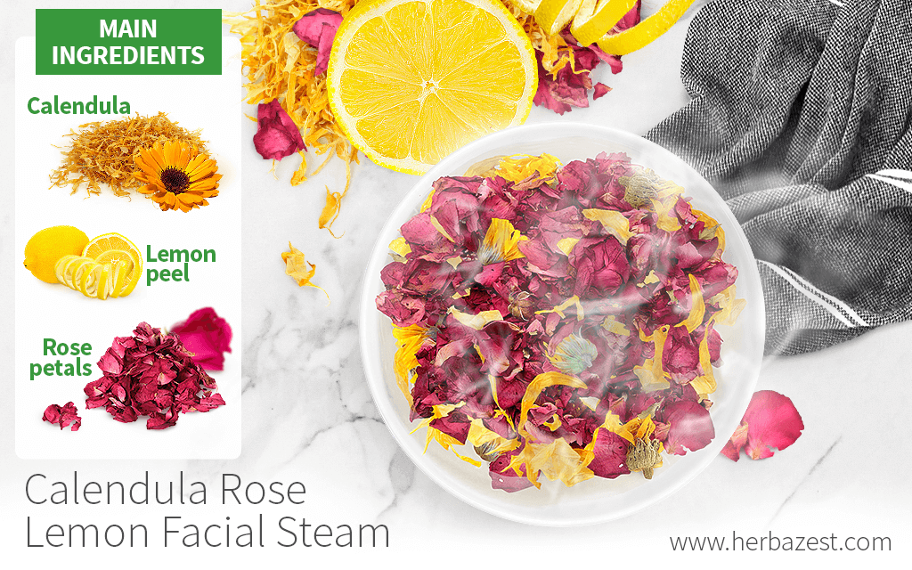 Calendula Rose Lemon Facial Steam