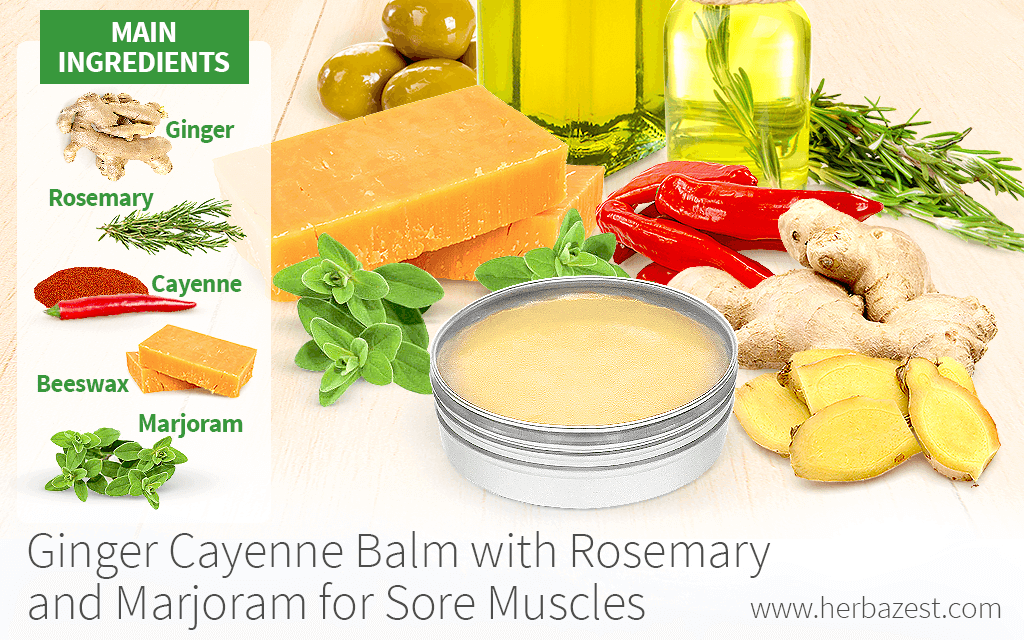 Ginger Cayenne Balm with Rosemary and Marjoram for Sore Muscles