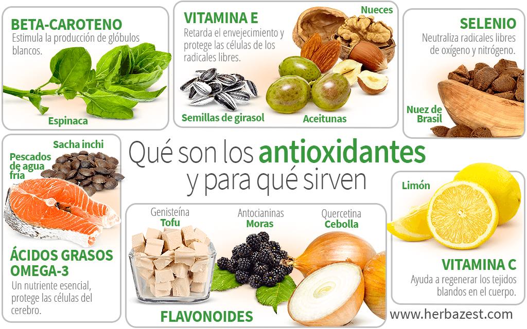 Qué son los antioxidantes y para qué sirven