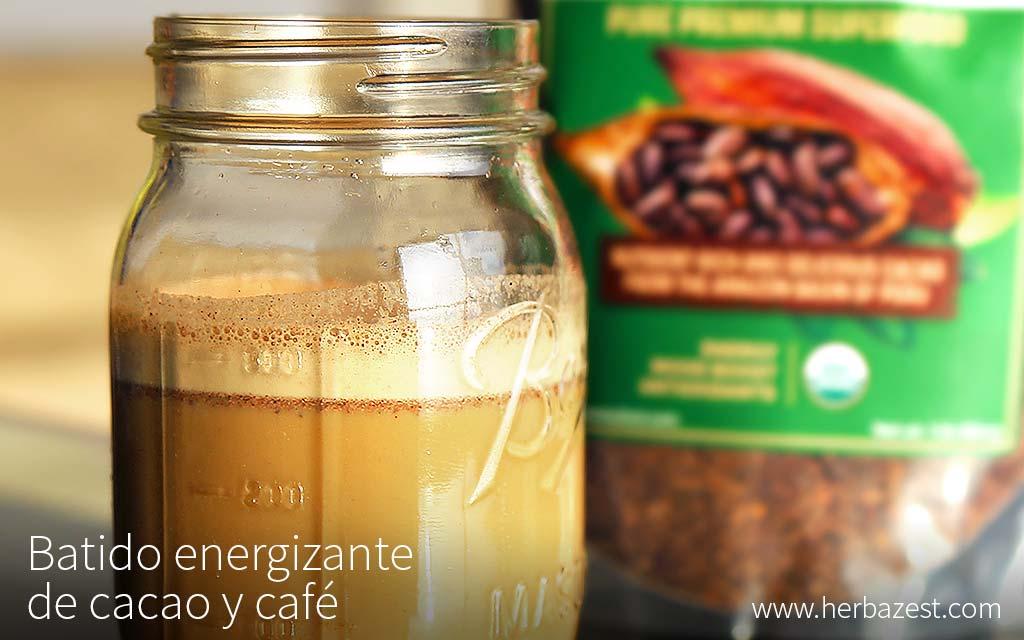 Batido energizante de cacao y café